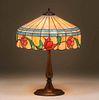 Arts & Crafts Leaded Glass Lamp c1920