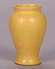 Marblehead Pottery Matte Yellow Vase c1910