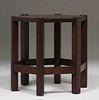 Michigan Chair Co Mahogany Six-Sided Taboret c1905