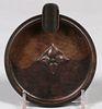 Craftsman Studios Hammered Copper Ashtray c1920s