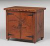 Navajo WPA Hand-Carved New Mexican Road Runner Cabinet
