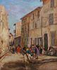 "Erna Lange Painting ""Street Scene in Martiques France"""