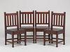 Set of 4 Roycroft Dining Chairs c1910