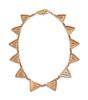 Harvey Austin Begay (Dine, 1938-2009) 14k Gold and Diamond NecklaceLot is located and will ship from Denver, Colorado