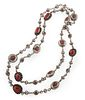 Lee Yazzie (Dine, b. 1946) Silver and Coral NecklaceLot is located and will ship from Denver, Colorado