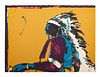 Fritz Scholder (Luiseno, 1937-2005) Lot is located and will ship from Denver, Colorado.Indian with Pistoledition 95/150, 1976