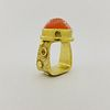 Hughes Bosca 18K Gold Mexican Opal Ring