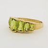 10K Gold Multi-Stone Peridot Ring