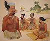 """Herb Kawainui Kane (1928 - 2011) """"Young Chiefs"""""""