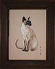 Chinese School, Original Cat Painting on Silk
