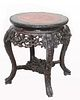 Signed, Highly Carved Chinese Side Table