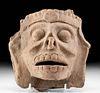 Veracruz Pottery Death God Face - Mictlantecuhtli