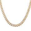 A Heavy 15.00 ctw Pave Diamond Curb Link Chain