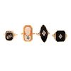A Collection of Art Deco Onyx & Cameo Rings