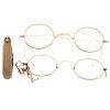 A Collection of Antique Eyeglasses & Pocket Knife