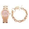 A Michael Kors Watch & Toggle Bracelet