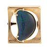 A Modern 5.50 ct Black Australian Opal Ring in 14K