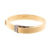 A Pave Diamond Buckle Bangle in 18K Yellow Gold