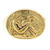 An 18K Greek Mythology Ring by Germano Alfonsi