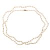 A Strand of Antique Pearls 28 Inches Long