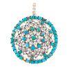 A Diamond & Turquoise Dome Pendant in Sterling