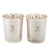 Two French Silver Cups from de Beauharnais Family