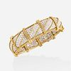 French diamond and gold bracelet