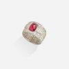 Cartier, Ruby and diamond ring