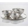 Nesting Bowl Round Tray Set Sterling Silver
