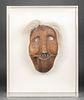 Inuit Carved Wood Hinged Mask, Antique