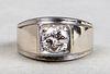 14K White Gold Gentleman's 1.50 ct Diamond Ring