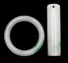 Chinese Jadeite Ring and Cylinder, 19th Century