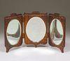 Arts & Crafts Oak Three-Section Hanging Mirror c1910