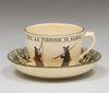 Royal Doulton Isaac Walton Ware Tea Cup c1907