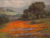 William F. Jackson  Painting California Poppies & Lupine