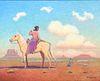 Ferdinand Burgdorff Painting Navajo Girl on Horse