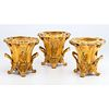 Three Gilt Sheffield Armorial Wine Coolers