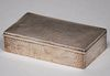 Arts & Crafts Hammered Sterling Silver Box c1910s