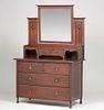 English Arts & Crafts Dresser with Mirror c1905