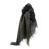 Shibori- Pleated Cashmere Shawl- Multi gray color