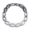 14pc Oval Chain in grey gradient