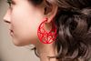 Star Cage Hoops - Red