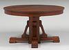 "Grand Rapids 54""d Cutout Pedestal Dining Table c1910"