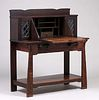 Shop of the Crafters Leaded Glass Drop Front Desk c1905