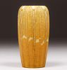 Grueby Pottery Matte Ochre Two-Color Vase c1905