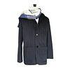Navy Shadow stripe soft jacket