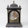 Victorian John Moore & Sons Brass Bound Ebonized Mantel Clock