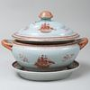 Chinese Export Porcelain Tureen on Stand