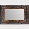Flemish Baroque Style Faux Tortoiseshell and Ebonized Mirror