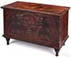 Midwest painted poplar blanket chest, dated 1852